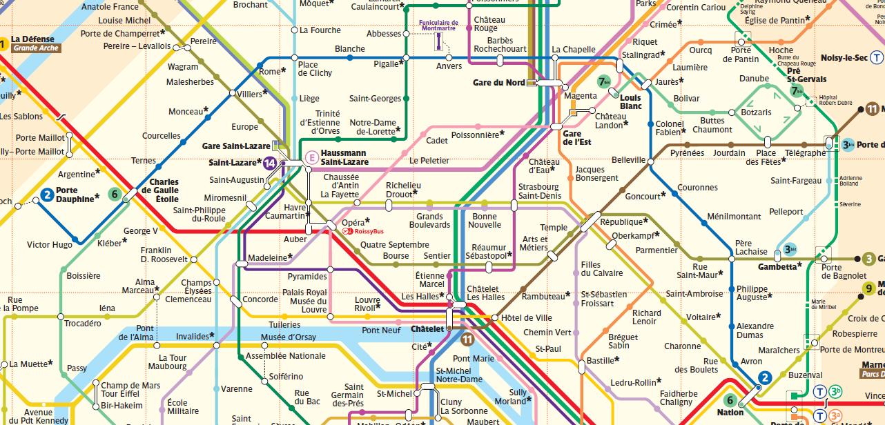 Cartina Centro Di Parigi.Mappa Di Parigi In Pdf Da Stampare Metro Rer E Bus
